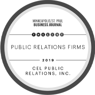 Minneapolis/St. Paul Business Journal - 2019 The List - Public Relations Firms logo